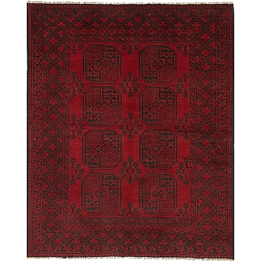 Bloomsbury Market Bridges Southwestern Hand Knotted Rectangle Wool Red Area Rug