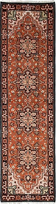 Bloomsbury Market Larsen Hand-Knotted Wool Dark Copper Area Rug