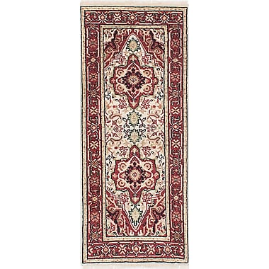 Bloomsbury Market Briggs Traditional Hand Knotted Wool Cream Area Rug