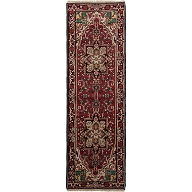 Bloomsbury Market Larsen Hand-Knotted Wool Red Area Rug