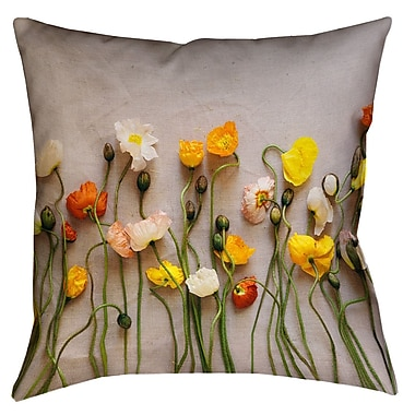 Latitude Run Tuyen Dried Flowers Square Pillow Cover; 16'' x 16''