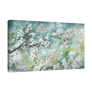 Bloomsbury Market 'Cherry Blossoms II' Print on Wrapped Canvas; 24'' H x 36'' W