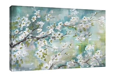 Bloomsbury Market 'Cherry Blossoms II' Print on Wrapped Canvas; 12'' H x 18'' W