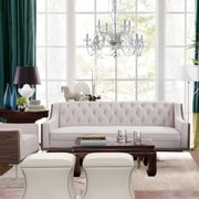 Brayden Studio Crouse Sofa; Cream/White