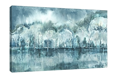 Charlton Home 'Watercolor Aspen Shore' Print on Wrapped Canvas; 32'' H x 48'' W