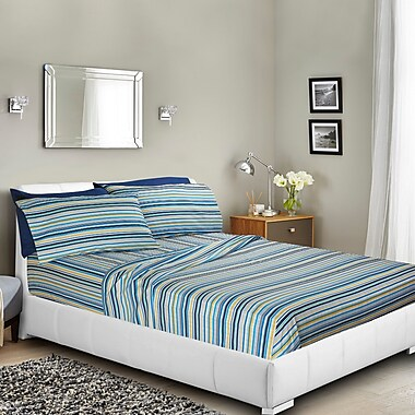 Charlton Home Brunelle Printed Bed Sheet Set; Queen