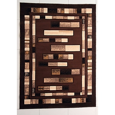 Ebern Designs Hormazabal Brown Area Rug; Runner 2' x 7'2''