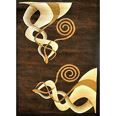 Ebern Designs Khoshkhu Brown Area Rug; Runner 2'7'' x 9'10''
