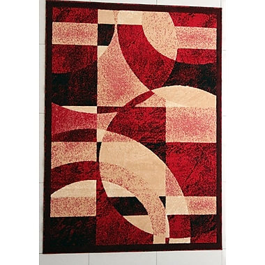 Ebern Designs Brazile Red Area Rug; Runner 2'7'' x 14'6''