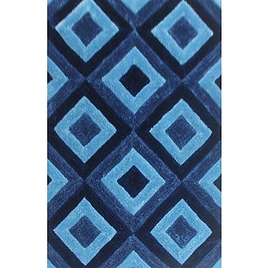 Ebern Designs Guice Blue Area Rug; 4' x 6'