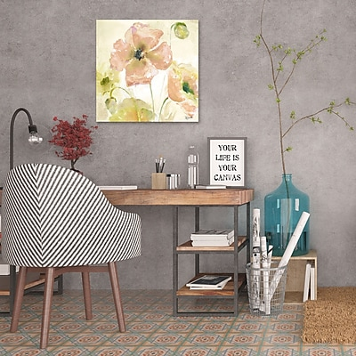 Ophelia & Co. 'Watercolor Blush and Gold III' Print on Wrapped Canvas; 24'' H x 24'' W