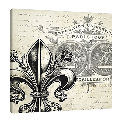 Ophelia & Co. 'Paris Patch' Graphic Art Print on Wrapped Canvas; 36'' H x 36'' W