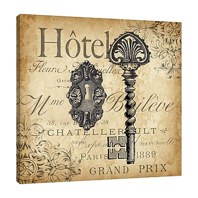Ophelia & Co. 'Key Engraving II' Graphic Art Print on Wrapped Canvas; 18'' H x 18'' W