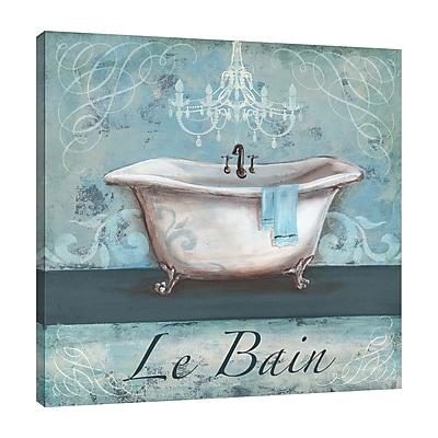 Ophelia & Co. 'Aqua Bath: Le Bein' Graphic Art Print on Wrapped Canvas; 30'' H x 30'' W