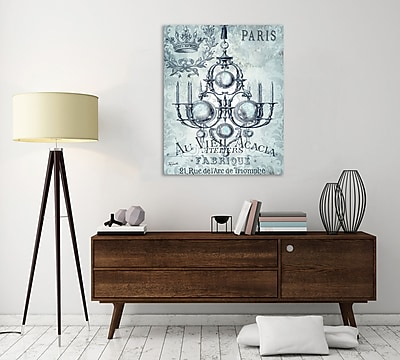 Ophelia & Co. 'Vintage Chandelier IV' Graphic Art Print on Wrapped Canvas; 25'' H x 20'' W