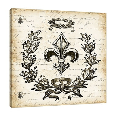 Ophelia & Co. 'French Laurel Wreath: FDL II' Graphic Art Print on Wrapped Canvas; 18'' H x 18'' W