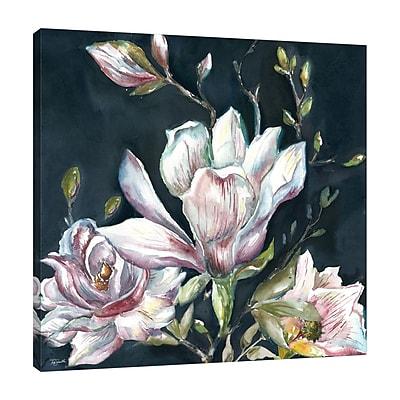 Ophelia & Co. 'Magnolia on Black 2' Print on Wrapped Canvas; 12'' H x 12'' W