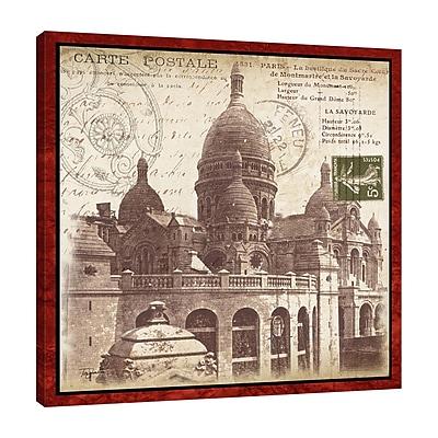 Ophelia & Co. Paris Postcard: Montmartre' Graphic Art Print on Wrapped Canvas; 24'' H x 24'' W