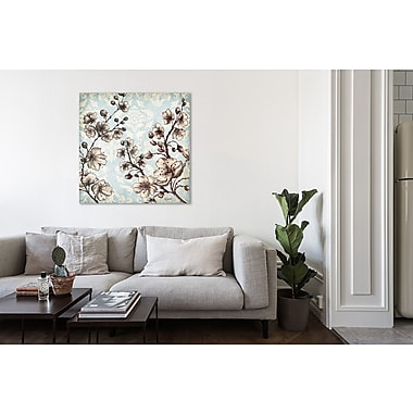 Ophelia & Co. 'Toile Blossoms II' Print on Wrapped Canvas; 12'' H x 12'' W