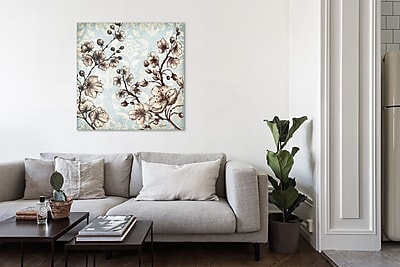 Ophelia & Co. 'Toile Blossoms II' Print on Wrapped Canvas; 48'' H x 48'' W