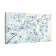Ophelia & Co. 'Watercolor Blue Blossoms II' Print on Wrapped Canvas; 16'' H x 24'' W