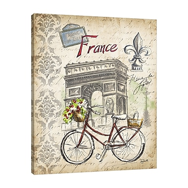 Ophelia & Co. 'Paris Sketch: Bicycle' Graphic Art Print on Wrapped Canvas; 40'' H x 32'' W