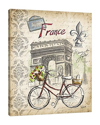 Ophelia & Co. 'Paris Sketch: Bicycle' Graphic Art Print on Wrapped Canvas; 20'' H x 16'' W