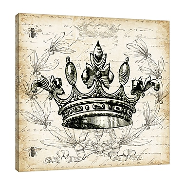 Ophelia & Co. 'French Laurel Wreath: Crown II' Graphic Art Print on Wrapped Canvas; 48'' H x 48'' W