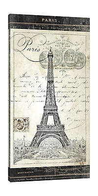 Ophelia & Co. 'Paris Exposition: Eiffel Tower' Graphic Art Print on Wrapped Canvas; 36'' H x 18'' W