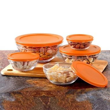 Rebrilliant Multi Purpose 5 Container Food Storage Set; Orange