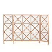 Home Loft Concepts Bogar 3 Panel Iron Fireplace Screen; Copper