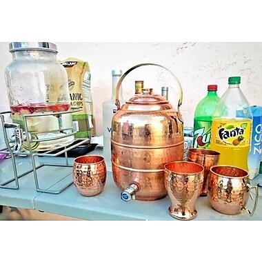 Latitude Run Merl Copper Beverage Dispenser; 11.5'' H x 8'' W x 8'' D