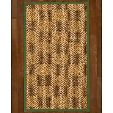Winston Porter Hearne Sisal Green Area Rug; 4' X 6'
