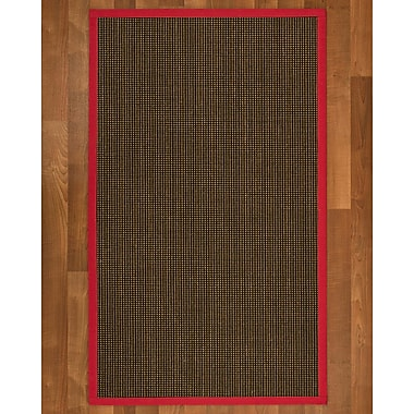 Winston Porter Hedlund Sisal Red Area Rug; 6' X 9'