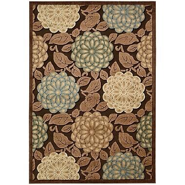 Winston Porter Hettie Brown/Tan Floral Area Rug; 7'9'' x 10'10''