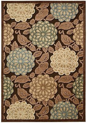 Winston Porter Hettie Brown/Tan Floral Area Rug; 2'3'' x 3'9''