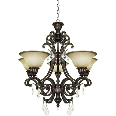 Astoria Grand Ironwood 5-Light Shaded Chandelier