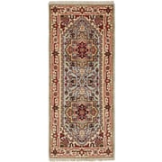 Bloomsbury Market Briggs Hand Knotted Wool Light Blue Fringe Area Rug