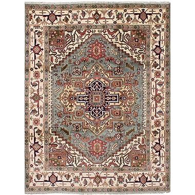 Bloomsbury Market Briggs Hand Knotted Wool Light Blue Area Rug