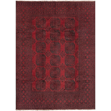 Bloomsbury Market Bridges Traditional Southwestern Hand Knotted Rectangle Wool Red Area Rug