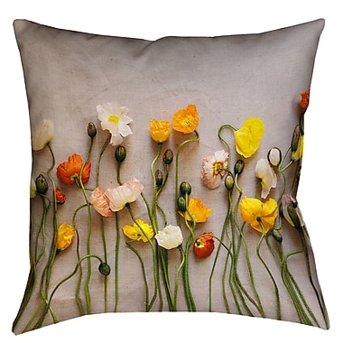 Latitude Run Tuyen Dried Flowers Double Sided Print 100pct Cotton Throw Pillow; 26'' x 26''