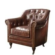 Williston Forge Kasha Top Grain Leather Club Chair