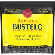 Folgers Supreme by Bustelo Espresso Style Ground Coffee, Espresso, Cappuccino, Bustelo, Dark, 0.2 oz, 120Carton