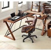 Whalen Astoria Wood & Glass L-Shaped Desk (ATLD56)