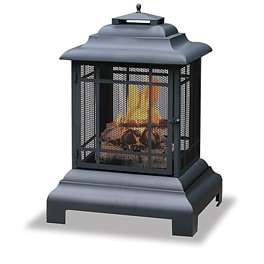 Blue Rhino Black Wood Burning Outdoor Firehouse With Chimney Black/Steel (WAF501CS)