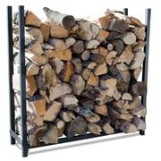 Blue Rhino Premium Log Rack 4 Ft Black/Steel (W-1745)