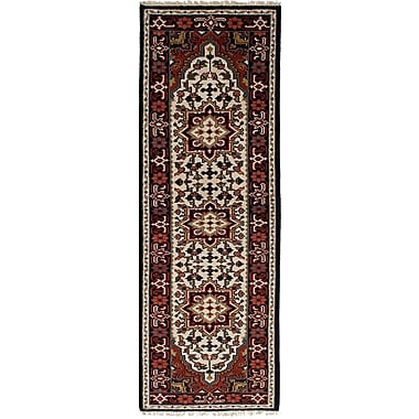 Bloomsbury Market Larsen Hand-Knotted Wool Cream Area Rug; 2'7'' x 7'8''