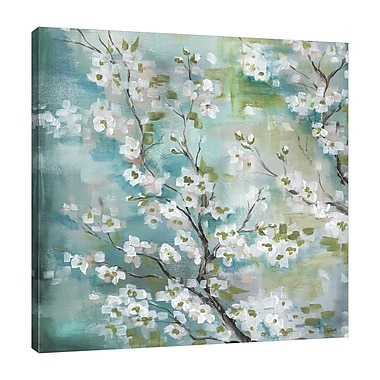 Bloomsbury Market 'Cherry Blossoms' Decorative Print on Wrapped Canvas; 30'' H x 30'' W