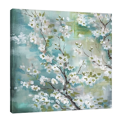 Bloomsbury Market 'Cherry Blossoms' Decorative Print on Wrapped Canvas; 24'' H x 24'' W