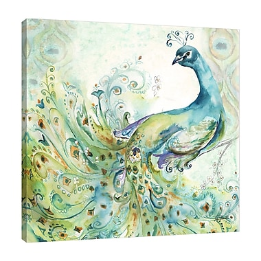 Bloomsbury Market 'Bohemian Peacock II' Print on Wrapped Canvas; 12'' H x 12'' W